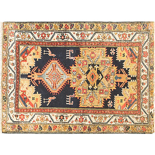 "Antique Khanate Rug, 3'5"" x 4'10"""