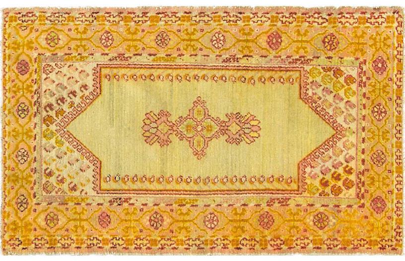 Antique Oushak Rug, 2'8