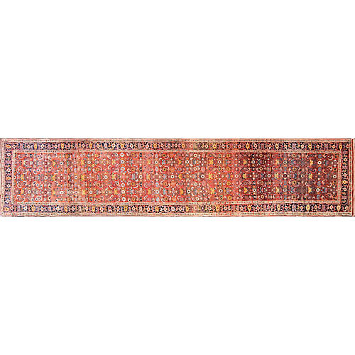 "Kurdish Bidjar Runner, 3'8"" x 17'8"""