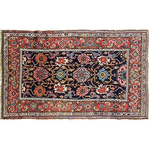 "Antique Kurdish Bijar Rug, 3'8"" x 6'3"""