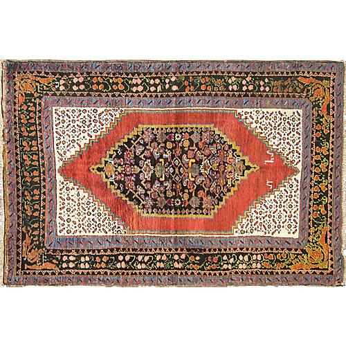 """Antique Karabagh Rug, 4'8"""" x 7'"""