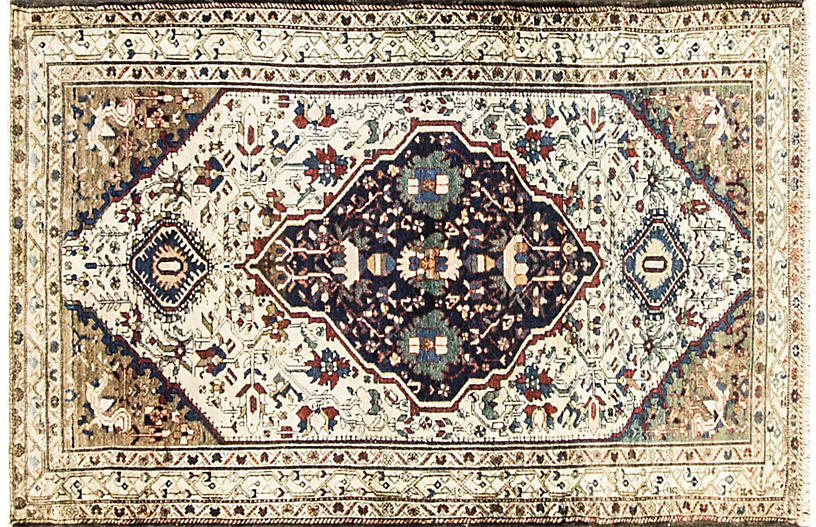Antique Persian Malayer Rug, 4'3