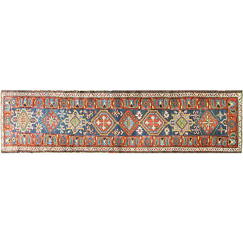"Antique Persian Karaja Rug, 2'10"" x 11'6"