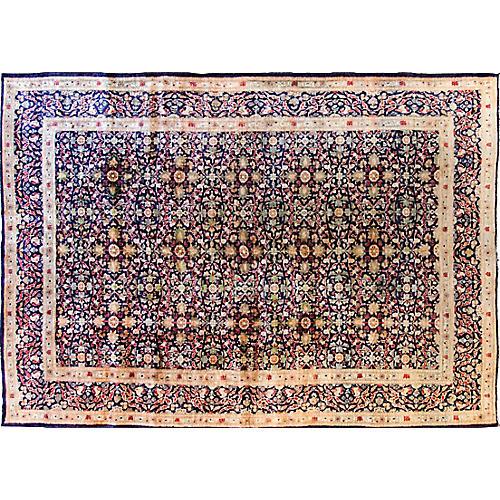 """Antique Persian Rug, 7' x 10'3"""""""