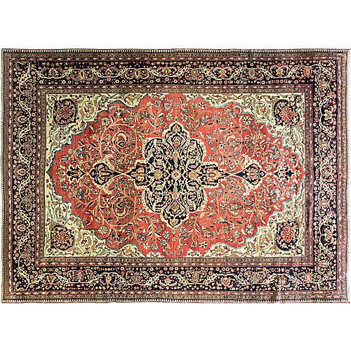 "8'10"" x12'3""Antique Persian Feraghan Rug"