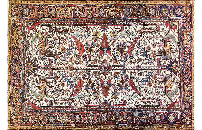 Antique Persian Heriz Rug, 7'3