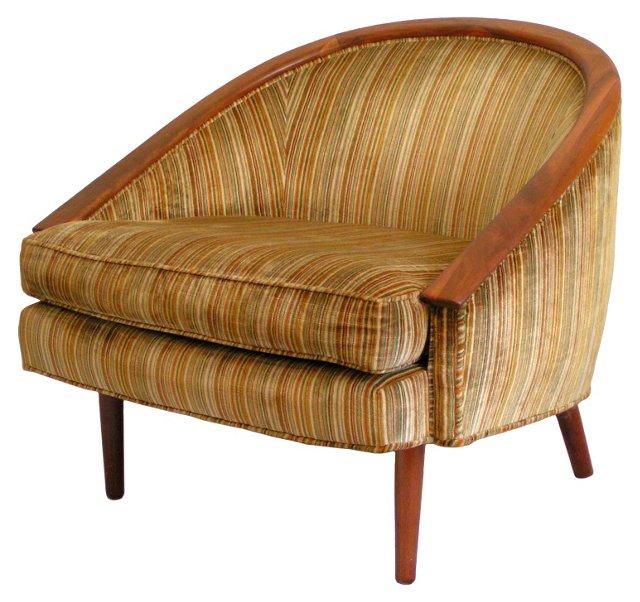Midcentury Barrel-Back  Chair
