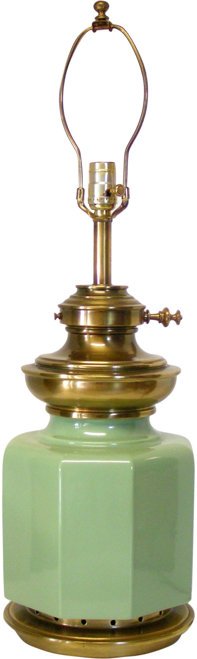 Ming Green Stiffel Lamp