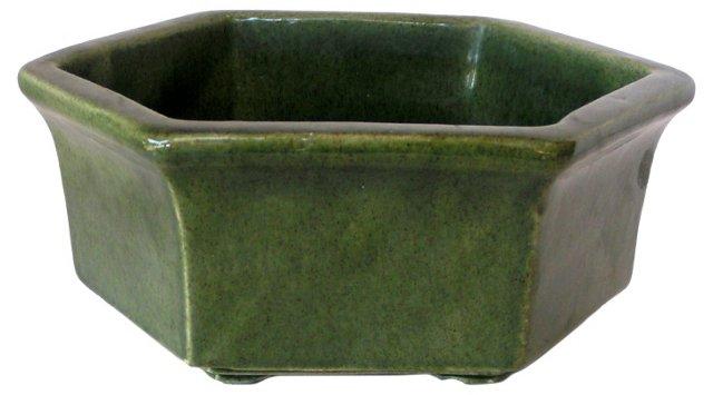 Classic Haeger Green Hexagonal Planter