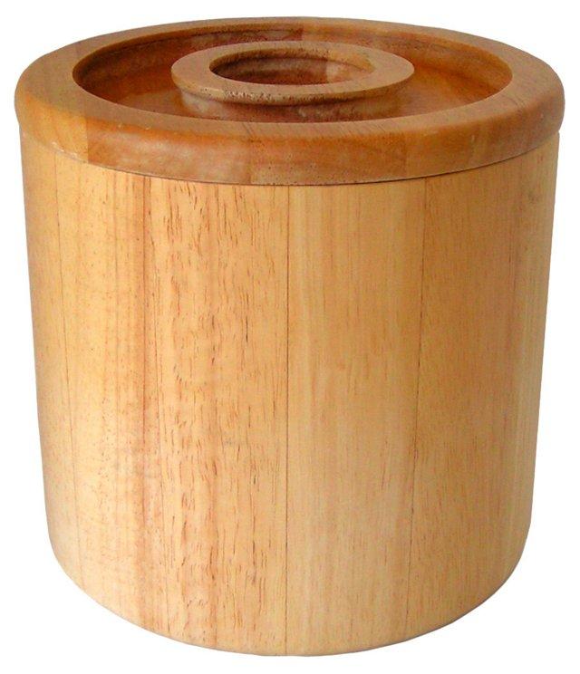 Dansk Beechwood Ice Bucket