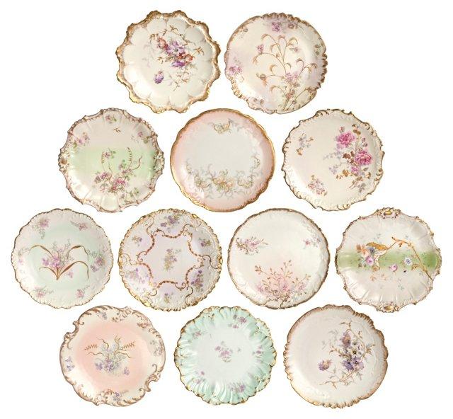 Limoges  Cabinet Plates, S/12