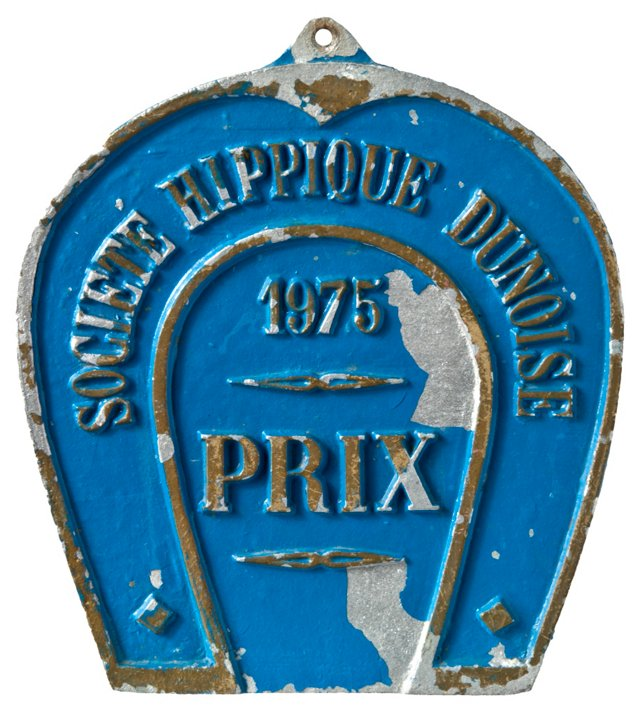French  Horse Prize  Plaque, 1975