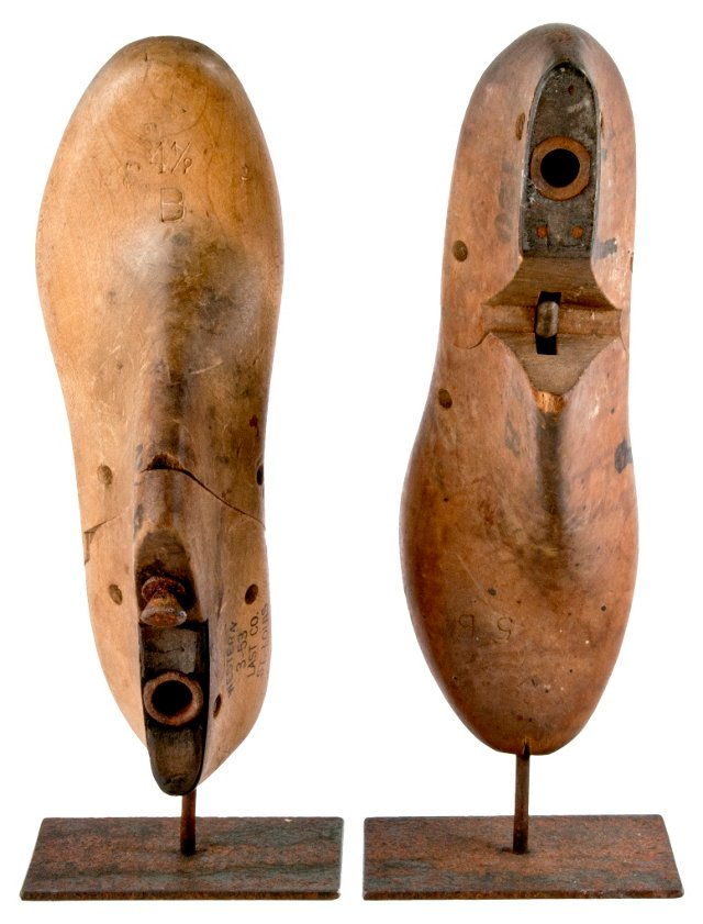 Western Last Shoe Forms, Pair