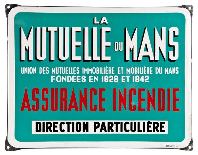 French Porcelain Enamel Sign