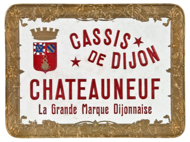 Embossed French Sign