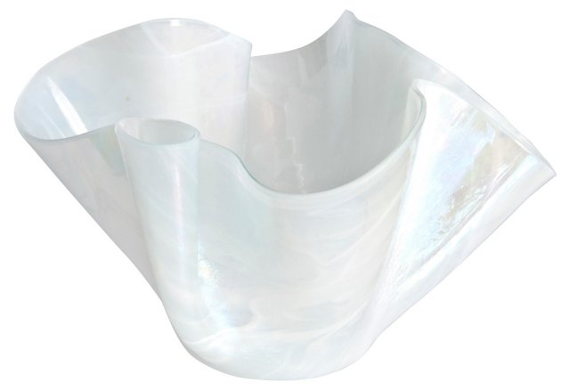 Glass Handkerchief  Candleholder