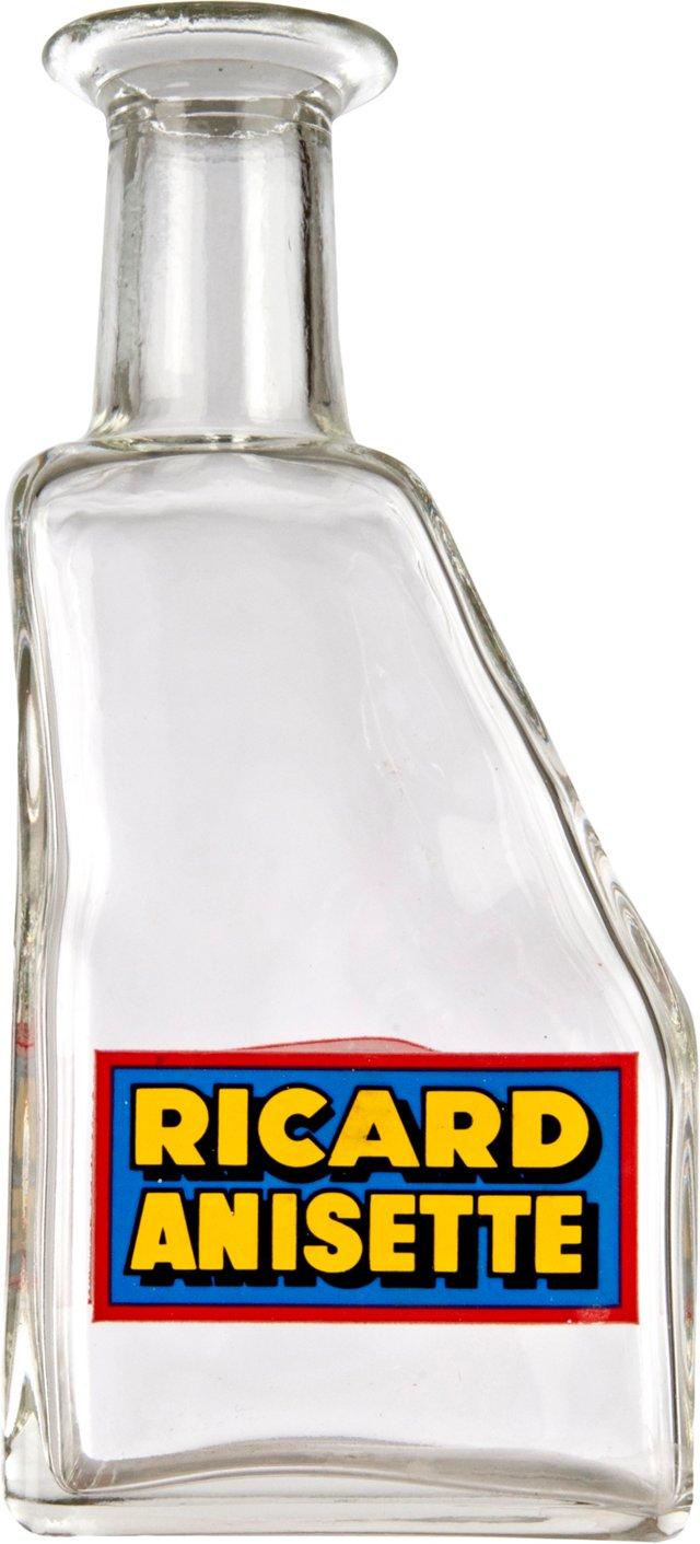 French Ricard Anisette Glass Bottle