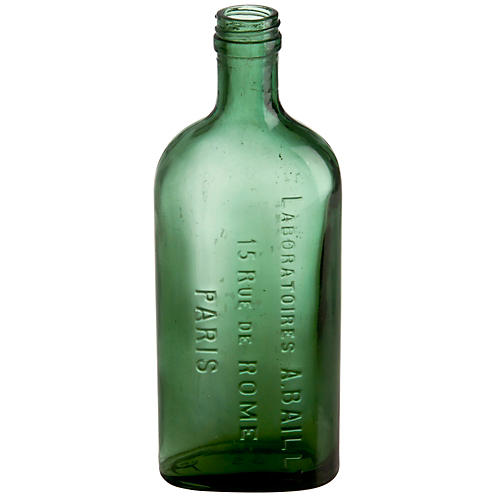 French Glass A. Bailly Paris Bottle