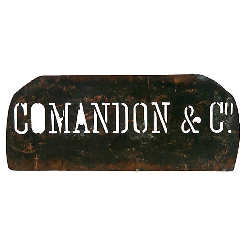 French Comandon Copper Stencil