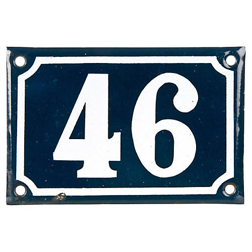 French Porcelain House Number 46