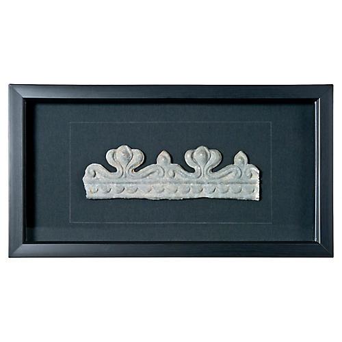Crown Framed French Zinc Fragment