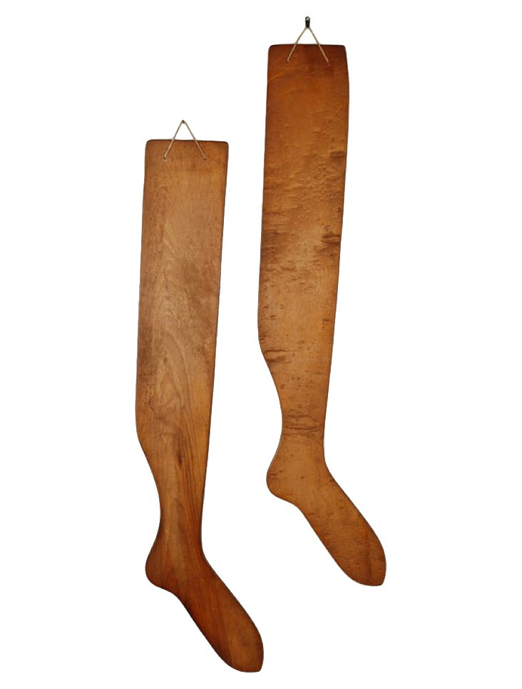 Stocking Stretcher Sculptures, Pair