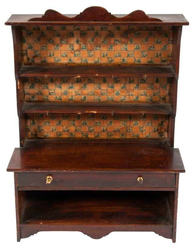 Antique English Petite  Cabinet