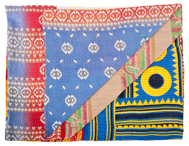 Multicolor Kantha                  Throw