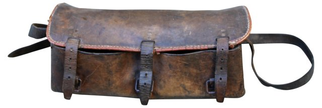 Leather Bocce Ball Carrier