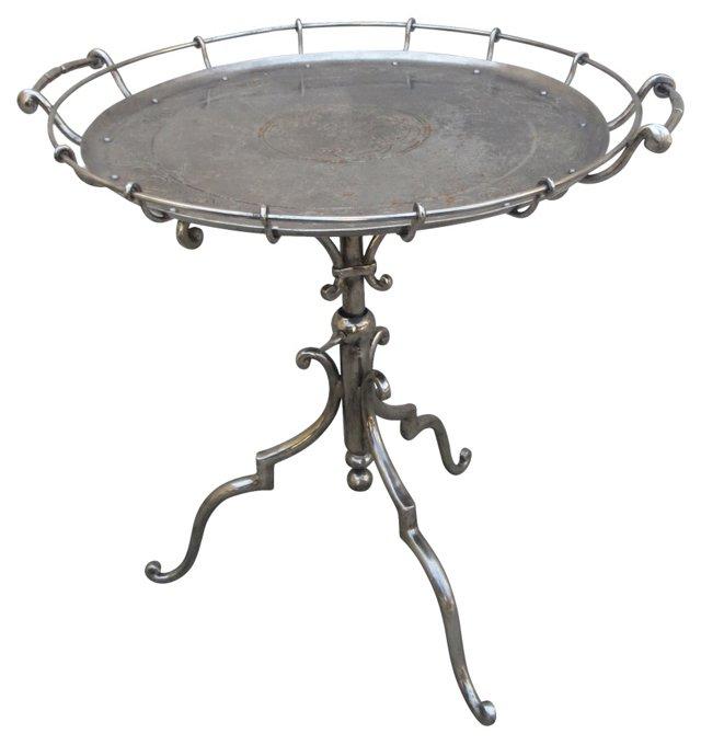 Silverplate Adjustable Table