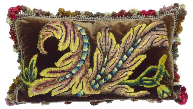 Pillow w/ Antique Italian     Textile