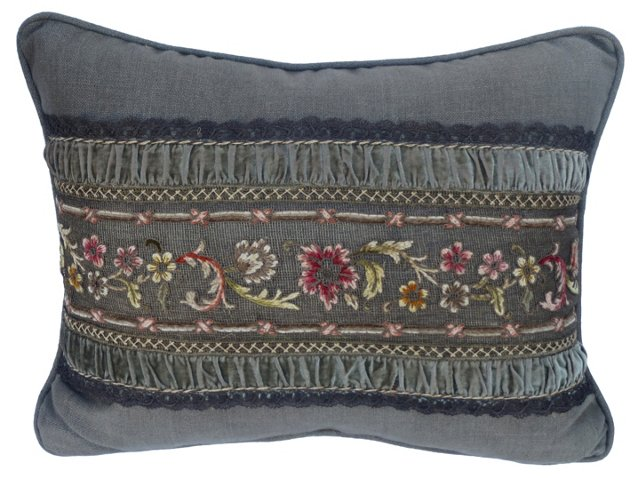 Pillow w/  Antique French   Lace