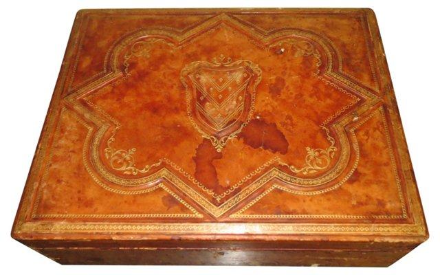 Italian Leather Embossed Box