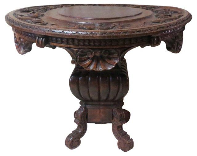 19th-C. Italian Walnut Table