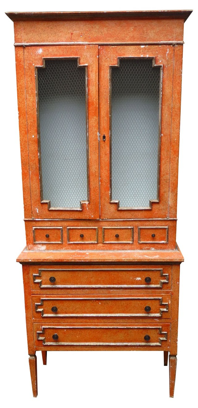 Italian Painted & Parcel Gilt Cabinet
