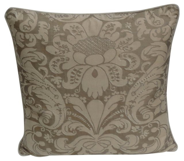 Cream & Gold Fortuny Pillow