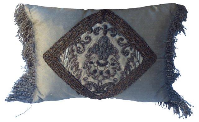 Metallic Embroidered Pillow