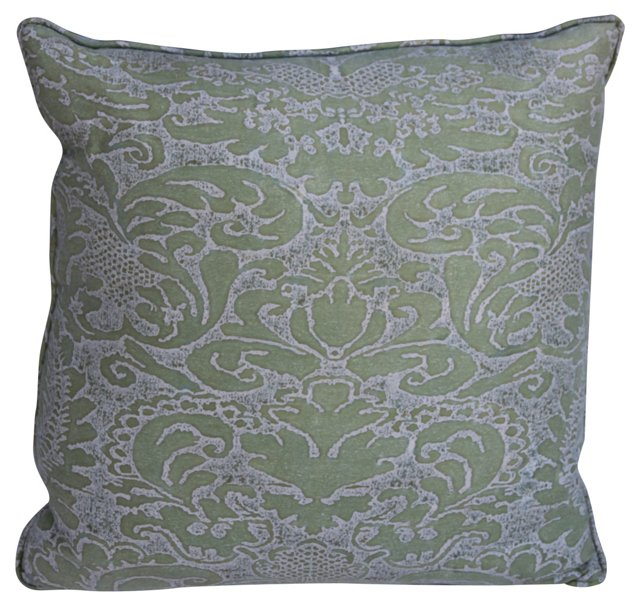 Soft  Green Fortuny  Pillow