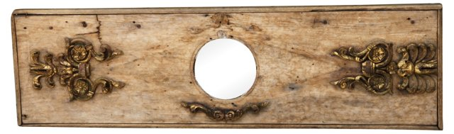 Carved Giltwood Panel w/ Mirror