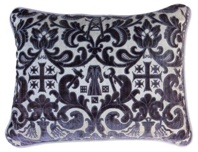 Pillow w/ Antique Cut Velvet
