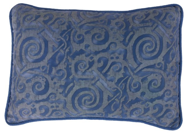 Fortuny Blue Swirl Pillow