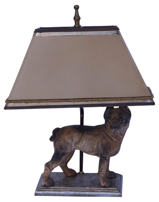 Iron Boston Terrier Lamp