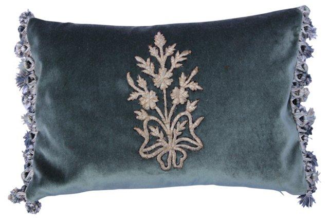 Pillow w/ Silver Metallic   Appliqué