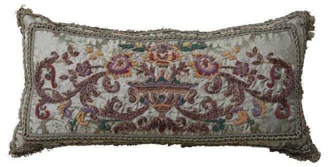 Metallic & Chenille Brocade   Pillow