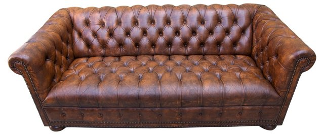 English Chesterfield Sofa, C. 1940