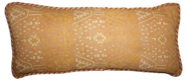 Cotton Ikat Pillow w/  Cording