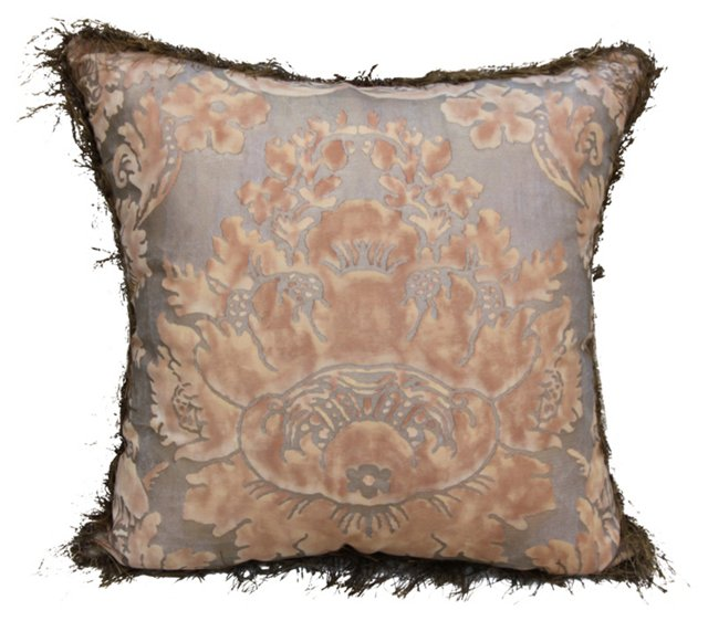 Fortuny Textile Pillow w/ Fringe