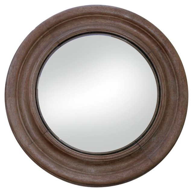 Wood Bullseye Mirror