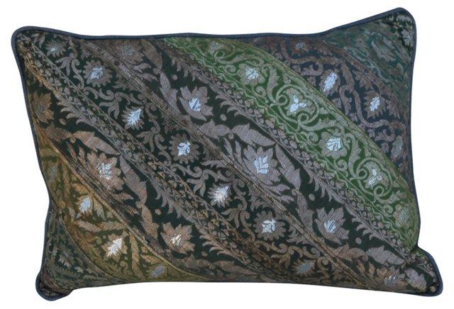 Pillow w/    Indian Sari Textile