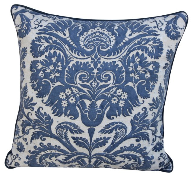 Blue &  Cream Fortuny Pillow